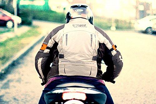 f32fffa9800 JET Chaqueta Moto Hombre Textil Impermeable con Armadura Gris Plateado