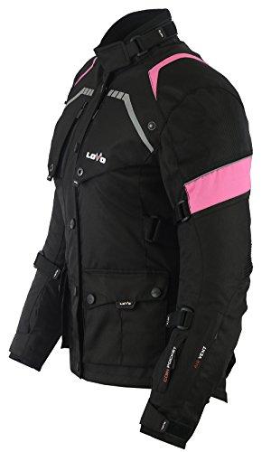 Mujer LOVO Chaqueta 3//4 para moto XL